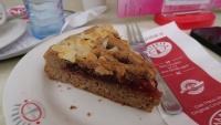 Ein Stück Linzer Torte im Cafe Jindrak