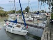 Boote im Hafen von Illmitz