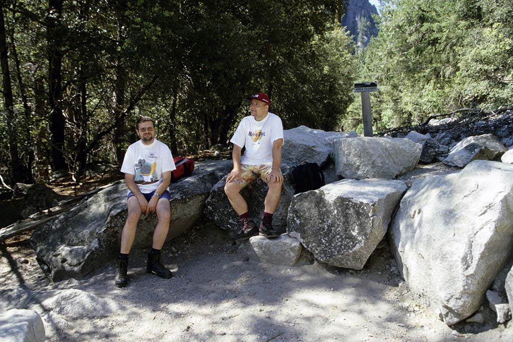 Fred und Wolfgang im Yosemite National Park