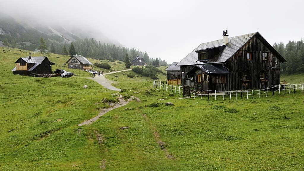 Schöne, alte Holzhäuser